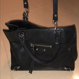 Black Leather Balenciaga Mini Crossbody Bag